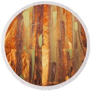 Fall Day Round Beach Towel