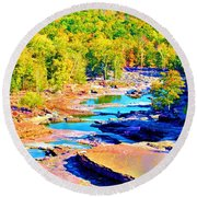 Fall Drought @ Ashokan Round Beach Towel