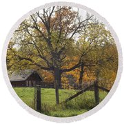 Fall Foilage In Country Round Beach Towel