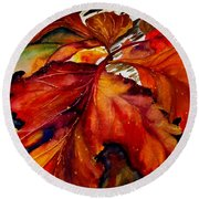 Autumn Dressage Round Beach Towel