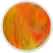 Fall Foliage Abstract Round Beach Towel