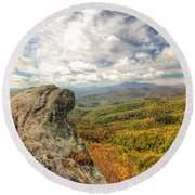 Fall From The Blowing Rock Round Beach Towel