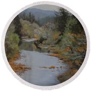 Fall Harmonies Round Beach Towel