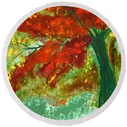 Fall Impression By Jrr Round Beach Towel
