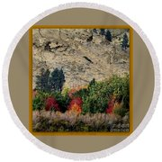 Fall In Carson Valley  Round Beach Towel