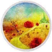 Fall In Oz Round Beach Towel