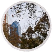 Fall In Philly Round Beach Towel