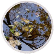 Fall In The Lake In Vienna No. 1 Round Beach Towel