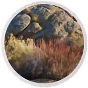 Fall In The Santa Rosas Round Beach Towel by Scott Campbell