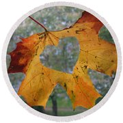 Fall Ing In Love Round Beach Towel