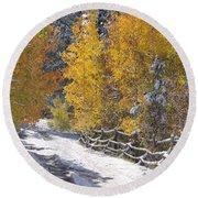 Fall Into Beartrap Meadow - Casper Mountain - Casper Wyoming Round Beach Towel