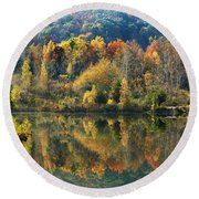 Fall Kaleidoscope Round Beach Towel