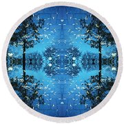 Autumn Leaves Fall Round Beach Towel