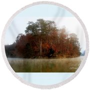 Fall On Melton Hill Lake Round Beach Towel
