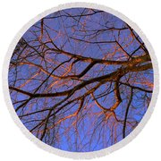Fall Reflections By Diana Sainz Round Beach Towel