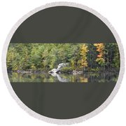Fall Reflections Wc Round Beach Towel