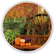 Fall Serenity Round Beach Towel