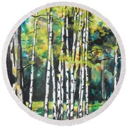 Fall To Pieces Round Beach Towel