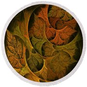 Fall Transitions Round Beach Towel