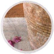 Fallen Flowers Round Beach Towel