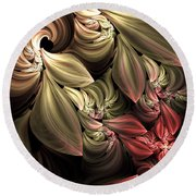 Fallen From Grace Abstract Round Beach Towel