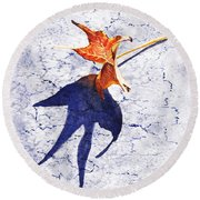 Fallen Leaf King Size Shadow Round Beach Towel