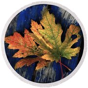 Falling For Colour Round Beach Towel