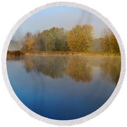 Falling For Reflections... Round Beach Towel