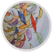 Falling Into Place Round Beach Towel