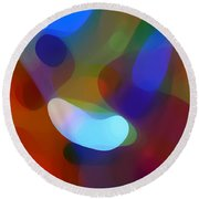 Falling Light Round Beach Towel