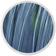 Falling Water Up Close Round Beach Towel