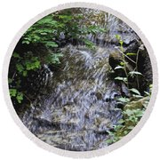 Falling Water Round Beach Towel