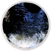 Falling Waters Round Beach Towel