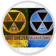 Fallout Lineup Round Beach Towel