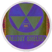 Fallout Shelter Abstract Round Beach Towel