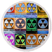 Fallout Shelter Mosaic Round Beach Towel