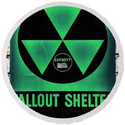 Fallout Shelter Wall 1 Round Beach Towel