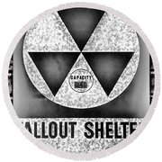 Fallout Shelter Wall 10 Round Beach Towel