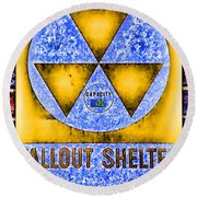 Fallout Shelter Wall 3 Round Beach Towel
