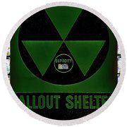 Fallout Shelter Wall 4 Round Beach Towel