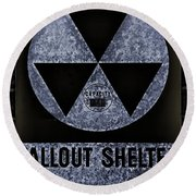 Fallout Shelter Wall 5 Round Beach Towel