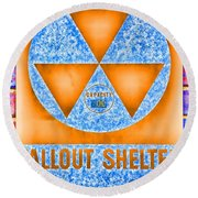 Fallout Shelter Wall 7 Round Beach Towel