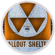 Fallout Shelter Wall 8 Round Beach Towel