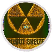 Fallout Shelter Wall 9 Round Beach Towel