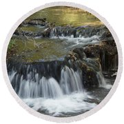 Falls Along Big Stone Lake Round Beach Towel
