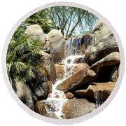 Falls At Jackalope Ranch 2 Round Beach Towel