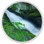 Falls Of Plymouth Round Beach Towel