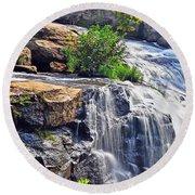 Falls Of Reedy River Round Beach Towel