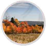 Fall's Splendor - Casper Mountain - Casper Wyoming Round Beach Towel
