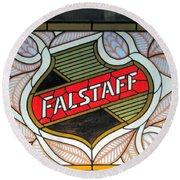 Falstaff Window Round Beach Towel